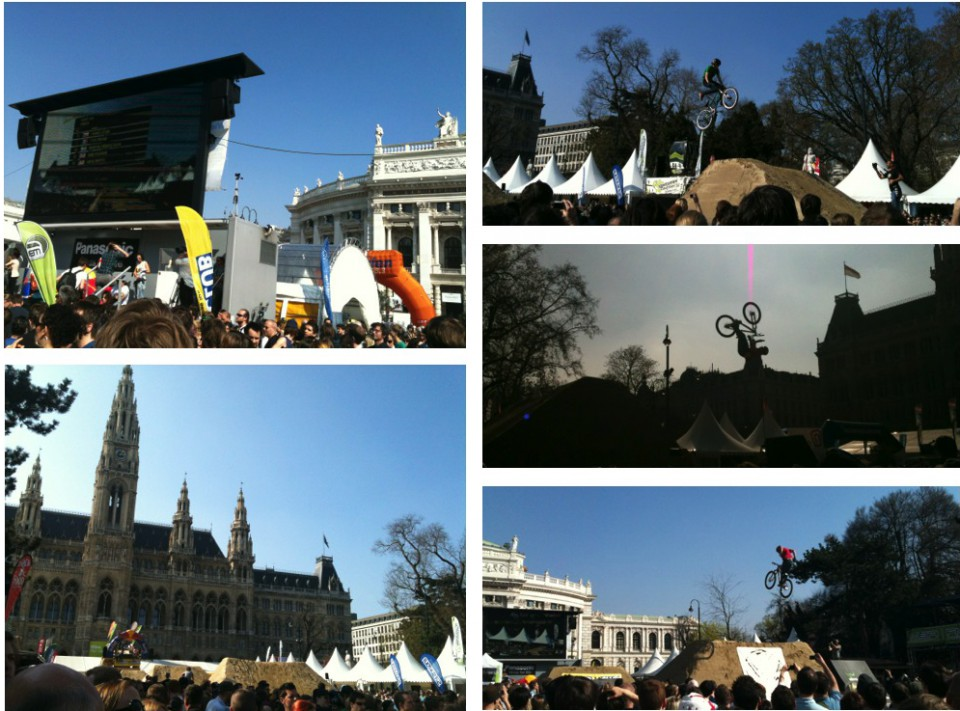 stunts and jumps at Bike Festival in Vienna, Austria 2011