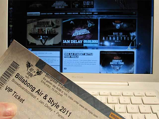 Air & Style Innbruck 2011, VIP ticket