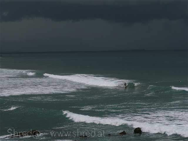 stormy day at bakio basque country
