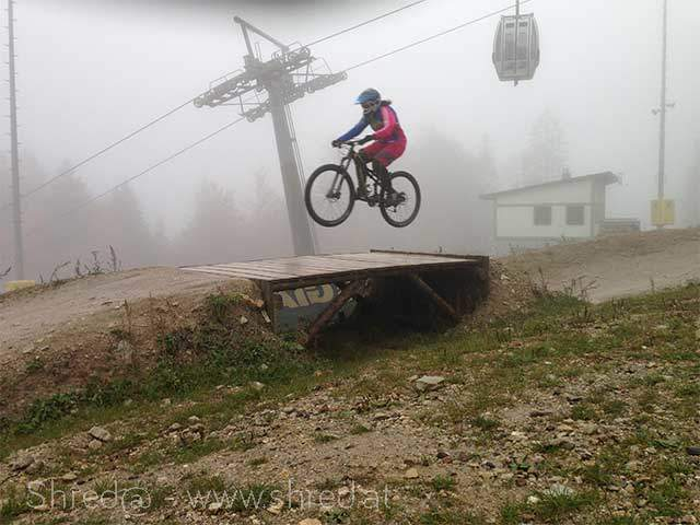 first table jump at bikepark semmering final slope