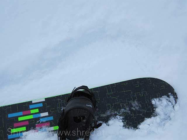 snowboard and powder snow
