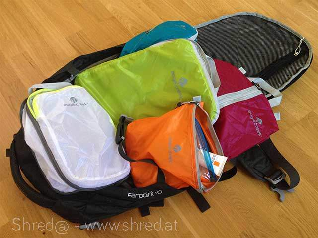 little magic bags and great backpack, travelling light utensils