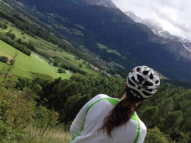 view into the Alto Adige valley from Zugtrail, Vinschgau, Italy 2015