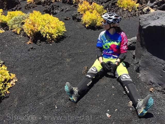 mountain biker in the sand