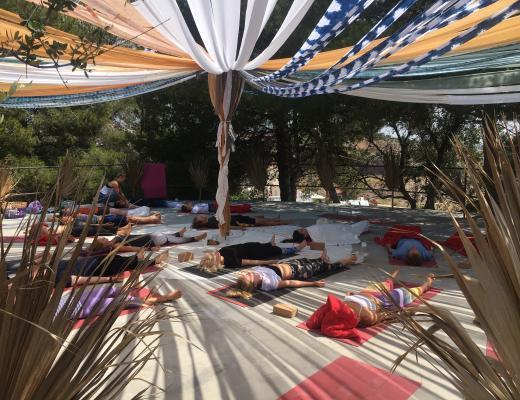 yoga session at festivalito of yoga spirit circle