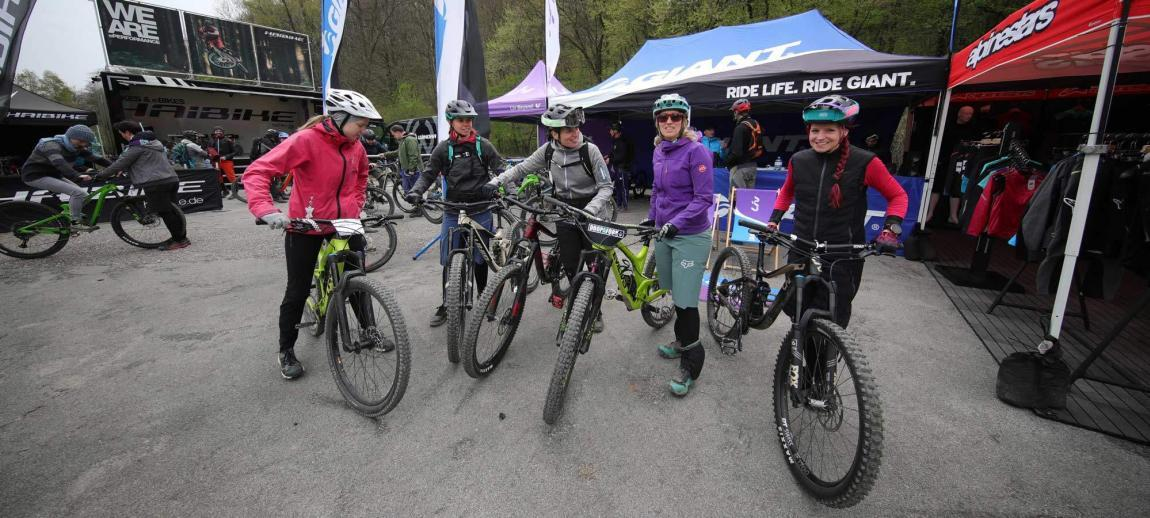 group of women gather for the next liv women's ride
