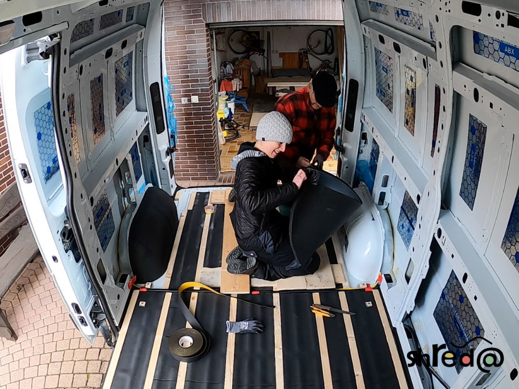 insulating our van with armaflex and alubutyl